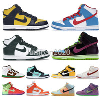университет мичигана  оптовых-Nike SB Dunk High Michigan State Sail Team Crimson Spectrum Doraemon Spartan University Team Corn Strawberry Cough Bio Hack Pro Green Skate Shoes