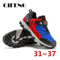 Wholesale 12 children casual shoes resale online - Autumn Children Sports Hiking Shoes Rock Climbing Kids Trekking Running Footwear Boy Student Casual Sneakers Winter jllQLp bdetrade