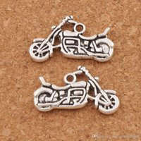 Wholesale silver motorcycle charms resale online - Motorcycle Spacer Charm Beads Pendants x14 mm Antique Silver Alloy Handmade Jewelry Diy L494 Lzsilver