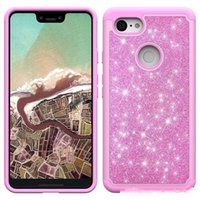 Wholesale alcatel skin case online – custom Bling Glitter Shockproof Cell Phone Case Cover For Iphone XS XR XS MAX LG Q7 plus Alcatel TPU Skin case Oppbag