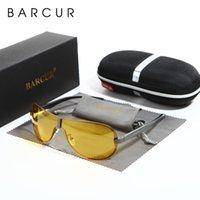 Wholesale mens night sunglasses for sale - Group buy Barcur Mens Night Driving Sunglasses Men Yellow Lens Night Vision Glasses Goggles Reduce Glare Brand Designer