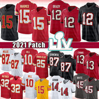 Tom Brady 12 Patrick Mahomes Football Jersey Rob Gronkowski Mike Evans Travis Kelce Tyreek Hill Tyrann Mathieu Chris Godwin Edwards-Helaire