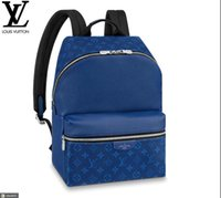 Wholesale rolling backpacks for sale - Group buy M30229 DISCOVERY BACKPACK PM Colors Cobalt MEN FASHION BACKPACKS BUSINESS BAGS TOTE MESSENGER BAGS SOFTSIDED LUGGAGE ROLLING BAG