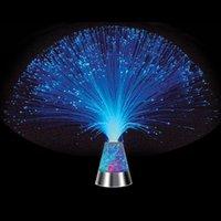 Wholesale lava lamps resale online - Lava Lamp Fiber Optic Lamp Colour Changing Crystal Base Colours Inch Mood Novelty Lamp