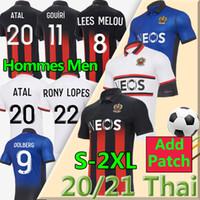 20 21 maillot de foot OGC Nice Soccer Jersey 2020 2021 ATAL TODIBO Dolberg Pierre Lees-Melou Ignatius Ganago Wylan Cyprien Football Shirt