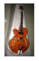 Wholesale left hand jazz guitars resale online - new left handed gretschmodel jazz electric guitar orange with
