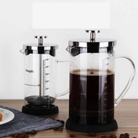 Wholesale stainless steel french press for sale - Group buy Stainless Steel French Press Boron silicate French Press Coffee Pot with scale Coffee Maker Tea Pot ML ML