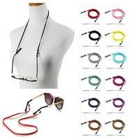 Wholesale sale designer eyewear resale online - Mask chain Holder Hot Glasses Anti Glasses Slip Eyeglasses Sunglasses Adjustable Rope Lanyard Holder Sale Chain Cord Accessory Eyewear Tqiw