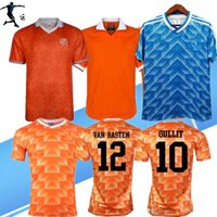 Wholesale breathable football jerseys resale online - Retro Netherlands Soccer Jersey Van Basten Holland Retro football shirts BERGKAMP Gullit Rijkaard DAVIDS