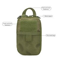 Wholesale waist bag for tools resale online - Outdoor Tactical Bag Molle Waist Fanny Pack Cell Phone Pocket Belt Waist Bag Phone For Tool