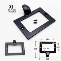 Wholesale file tags resale online - 2pcs Small Heavy Duty Brass Black Decorative Furniture Cabinet Drawer Label Pull Tag Frame Handle File Name Card Holder wmtpvD bdegarden