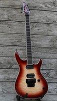 Wholesale custom guitar neck china resale online - Custom Shop Frets Binding Neck Thru Body Electric Guitar Quiltd Maple Top Guitar Black Hardware Tremolo Bridge China Guitars