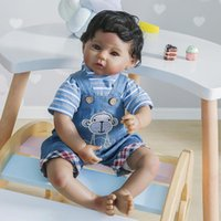 Wholesale doll silicone child resale online - 47cm little baby boy soft silicone doll rebirth Christmas gift reality doll soft body Suitable for children over years old DWA1876