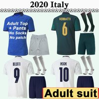 Wholesale italy home soccer jersey resale online - 2020 VERRATTI BERNARDESCHI Adult Suit Soccer Jerseys ITALY National Team CHIELLINI EL INSIGNE BONUCCI BELOTTI Home rd Away Football Shirt