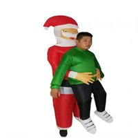 Wholesale blow ups dolls resale online - wlXiu Santa Claus holds inflatable dress and vibrated blow up Doll Doll dress Halloween inflatable Santa Claus holds the tiktok same and vibr