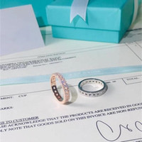 TSHOU298 classic 925 s silver round zircon wedding ring for women with two color Y1128