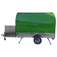 Wholesale food trailer for sale - Group buy Green Stainless Steel Concession Food Trailer Food Truck