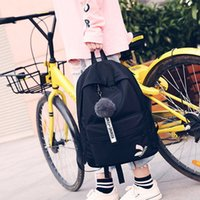 Wholesale female schoolbag resale online - Schoolbag female Korean style Harajuku ulzzang high school student campus trendy simple canvas soft Bag backpackCanvas backpack girl backpac