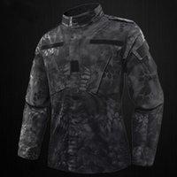 Wholesale tactical camo uniforms resale online - Tactical US RU Army Camouflage Uniform Men BDU Multicam Camo Uniform Clothing Set Outdoor Jacket Pants