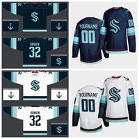 Wholesale team hockey resale online - Seattle Kraken Jersey Mens Kraken Kraken Jersey Season New Team Blue White Blank Cheap Ice Hockey Jerseys Custom Stitched