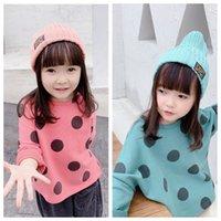 Wholesale 2020 girls shirt blouse children s autumn new product girls Korean version wave point loose long sleeve sweater goods