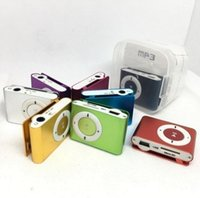 Wholesale Mini Clip MP3 Support Micro TF SD Slot With Earphone and USB Cable Portable MP3 Music Players DHL Free
