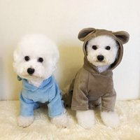 Wholesale dogs pajamas resale online - Dogs Autumn Winter Clothes Pure Color Four Legs Sweater Small And Medium Sized Dog Pets Pajamas Hot Sale ca J2