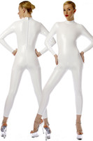 Sexy White PVC Body Suit Cosplay Costumes New 9 Color Shiny PVC Suit Catsuit Costumes Unisex Back Zipper No Head Hand Foot DH212