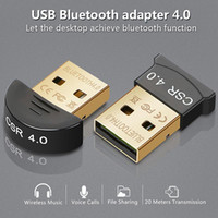 Wholesale computers for sell online – Hot selling Bluetooth Dongles Mini USB Bluetooth Dongle Adapters Dual Mode adapter CSR4 for Computer Laptop PC
