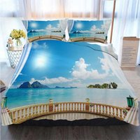 Wholesale 3d bedding set cotton king for sale - Group buy 3pcs Bedding Cotton Set Super King Duvet Cover Set D Sea Lake Duvet Cover Designer Bed Comforters Sets