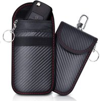 Wholesale Rfid Signal Blocking Bag Faraday Remote Key Credit Cards Pouch Pocket with Hook Anti Hacking Bluetooth Wifi GPS Blocking