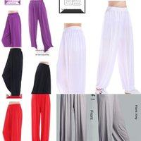Wholesale yoga tai chi resale online - Tai Chi Lantern Taijifu Yoga martial arts training modal Tai Chi costume lantern Yoga Pants wide leg pants sports women I9E6J