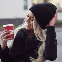 Wholesale coloured beanies resale online - New Fashion Solid Color Knit Beanies Hat Winter Hats Warm Man Woman Multiple Colour Skullies Ski Soft Cap Beanie Bone Sport