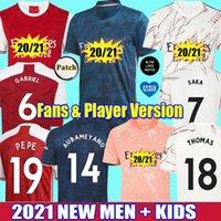 Wholesale 2021 Fans Player aRsEn soccer jersey THOMAS Pepe GABRIEL WILLIAN Tierney SAKA NICOLAS Gunners football shirts men kids kit uniforms