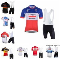 Wholesale lotto men cycling jersey resale online - 2020 Newest Lotto Cycling Jersey Men Short Sleeves Cycling Clothing Sportswear Outdoor Mtb Racing Bike Bib Shorts Set Ropa Ciclismo K040