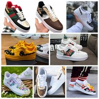 Wholesale running shoes air resale online - Hot Dunk cheap Utility Running Shoes Men Women triple air af forces airforce one skateboard mens trainers sports sneakers With Box