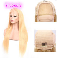 Wholesale human hair lace wig 32 inches for sale - Group buy Brazilian Virgin Hair X4 Lace Front Wig Silky Straight Body Wave by Wigs Blonde Color inch Human Hair Yirubeatuy