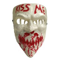 Wholesale devil face for halloween resale online - New Kiss Me Scary Mask Full Face Horror Devil Masquerade Masks Halloween Cosplay Prop Party Supplies Vt0946