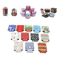 Wholesale wine bottle cooler bags resale online - Customized Neoprene Stubby Holders Silm Sleeve Beer Cooler Bags Wine Bottle Can Cooler Water Bottle Covers Pouch Bar Supplies BWE1197