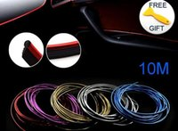 Wholesale car interior trim resale online - 10m Trims Strips Accessories Diy Brand Thread Stickers Decoration And Decals d Auto Car Styling Interior Decoration Accessories Strip