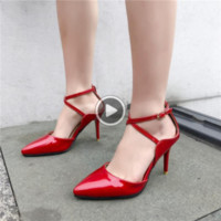 Wholesale small heels for sale - Group buy fh0SQ Summer Pumps High heeled shoes Sandals and heels Scarpin High Heels Sandals Women s Stiletto party Wedding High Heel shoes Woman Small