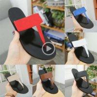 Wholesale sl box resale online - JmQmh TOP Quality Designer Luxury Leather Flip Flops Slides Metal chains Summer Sandals Beach Shoes Fashion With Box SZ Flip flops sl
