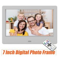 Wholesale button clocks resale online - New7 inch LCD Picture Clock MP4 Movie Player HD Remote Control Button Digital Photo Frame