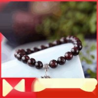 Wholesale garnet crystals ring resale online - Hrr0F Shangshe crystal natural single ring stone stone bracelet Wine Red Garnet Bracelet garnet hand string silver lady s hand jewelry
