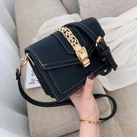 Wholesale girls pocket money bag resale online - Hong Kong Style Small Chains Leather Crossbody Bags For Women Colors Ladies Messenger Bag Girls Money Pocket