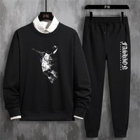 Wholesale mens tennis sweater for sale - Group buy Hot sale set sweatsuit Designer Tracksuit Mens Clothing Sweatshirt Casual Tennis Sport Tracksuit Sweat Suit Loose Sweater trousers