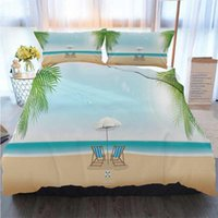 Wholesale 3d bedding set beaches for sale - Group buy 3D Printed Merry Christmas Bedding Set Beautiful Summer Beach Vector Panoramic Banner Duvet Cover Designer Bed Comforters Sets