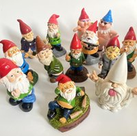 Wholesale resin gnome resale online - 15 Styles Christmas Handmade Gnome Dwarf Decoration Elf Resin Toy Table Ornament Xmas Tree Decorations Gifts DWC2940