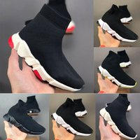 Wholesale kids sneaker socks for sale - Group buy Fashion kids shoes triple Paris Sock Shoes Speed Trainers Black Casual Shoes For Men Women Oero Women Boots Sneakers running sport outdoors