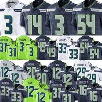 Wholesale Russell Wilson DK Metcalf Jerseys Seattle Seahawks Football Jamal Adams Tyler Lockett th Fan Kam Chancellor Jordyn Brooks Men